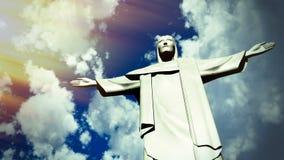 Χριστός το άγαλμα απελευθερωτών Ro de Janeiro Στοκ εικόνα με δικαίωμα ελεύθερης χρήσης