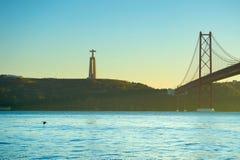 Χριστός το άγαλμα βασιλιάδων Λισσαβώνα Στοκ Φωτογραφίες