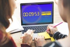 Χρονική έννοια νέο ρεκόρ χρονομέτρων με διακόπτη στοκ εικόνα με δικαίωμα ελεύθερης χρήσης
