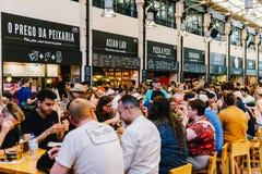Χρονική έξω αγορά στη Λισσαβώνα Στοκ Φωτογραφίες