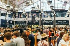 Χρονική έξω αγορά στη Λισσαβώνα Στοκ Εικόνες