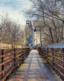 Χρονική γέφυρα στοκ εικόνες