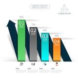 Χρονική γραμμή infographic και πρότυπο σχεδίου εικονιδίων Στοκ εικόνες με δικαίωμα ελεύθερης χρήσης