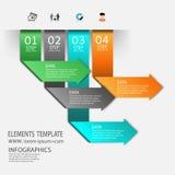 Χρονική γραμμή infographic και πρότυπο σχεδίου εικονιδίων Στοκ φωτογραφία με δικαίωμα ελεύθερης χρήσης