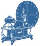 Χρονική μηχανή που απομονώνεται στο άσπρο διάνυσμα υποβάθρου Στοκ Φωτογραφίες