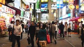 Χρονική πάροδος του πολυάσχολου βραδιού περιοχής αγορών Shibuya - Τόκιο Ιαπωνία απόθεμα βίντεο