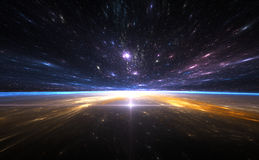 Χρονική στρέβλωση, που ταξιδεύει στο διάστημα Στοκ φωτογραφία με δικαίωμα ελεύθερης χρήσης