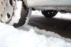χρονικός χειμώνας αυτοκινήτων Στοκ Εικόνες