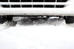 χρονικός χειμώνας αυτοκινήτων Στοκ φωτογραφία με δικαίωμα ελεύθερης χρήσης