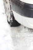 χρονικός χειμώνας αυτοκινήτων Στοκ φωτογραφίες με δικαίωμα ελεύθερης χρήσης