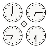 Χρονικό ρολόι γύρω από την ώρα επτά ρολογιών απλό διάνυσμα εικονιδίων quoter μισό Στοκ φωτογραφία με δικαίωμα ελεύθερης χρήσης