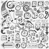 Χρονικό ρολόι doodles Στοκ Εικόνες