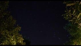 Χρονικό σφάλμα αστεριών νυχτερινού ουρανού φιλμ μικρού μήκους