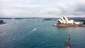 Χρονικό σφάλμα ημέρας της Αυστραλίας στο λιμάνι του Σίδνεϊ απόθεμα βίντεο