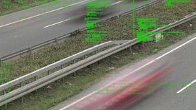 Χρονικό σφάλμα μιας εθνικής οδού με τα αυτοκίνητα απόθεμα βίντεο