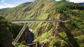 Χρονικό σφάλμα πέρα από τη γέφυρα του Σαν Φρανσίσκο, Banos Ισημερινός απόθεμα βίντεο