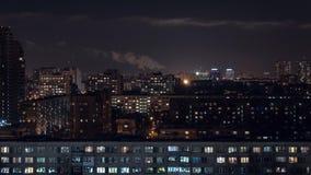 Χρονικό σφάλμα πόλεων νύχτας απόθεμα βίντεο