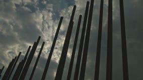 Χρονικό σφάλμα στο μνημείο τειχών του Βερολίνου απόθεμα βίντεο