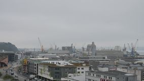 Χρονικό σφάλμα στο Brest, Γαλλία απόθεμα βίντεο