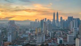Χρονικό σφάλμα της Κουάλα Λουμπούρ Μαλαισία απόθεμα βίντεο