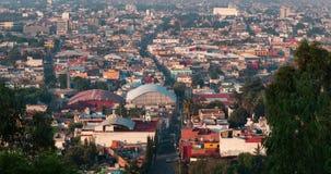 Χρονικό σφάλμα της κυκλοφορίας στην πόλη στην ανατολή απόθεμα βίντεο