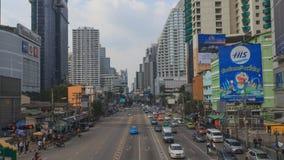 Χρονικό σφάλμα της κυκλοφοριακής συμφόρησης στην πόλη απόθεμα βίντεο