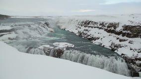 Χρονικό σφάλμα του καταρράκτη Gullfoss στην Ισλανδία απόθεμα βίντεο