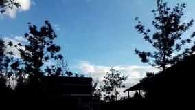 Χρονικό σφάλμα του φυσικού υποβάθρου cloudscape απόθεμα βίντεο