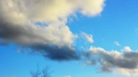 Χρονικό σφάλμα του cloudscape με το φωτεινό ήλιο που λάμπει με τη διάβαση σύννεφων απόθεμα βίντεο