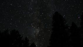 Χρονικό σφάλμα των αστεριών στον ουρανό απόθεμα βίντεο
