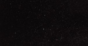Χρονικό σφάλμα των αστεριών τη νύχτα απόθεμα βίντεο
