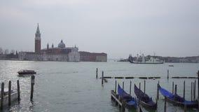 Χρονικό σφάλμα των γονδολών και της κυκλοφορίας βαρκών στη Βενετία απόθεμα βίντεο