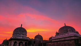 Χρονικό σφάλμα Mandu Ινδία, αφγανικές καταστροφές του βασίλειου Ισλάμ, του μνημείου μουσουλμανικών τεμενών και του μουσουλμανικού απόθεμα βίντεο