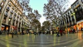 Χρονικό σφάλμα Βαρκελώνη κυκλοφορίας πόλεων για τους πεζούς απόθεμα βίντεο