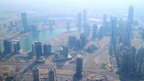 Χρονικό σφάλμα κεντρικής υψηλότερο άποψης του Ντουμπάι απόθεμα βίντεο