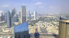 Χρονικό σφάλμα κεντρικής υψηλό άποψης του Ντουμπάι απόθεμα βίντεο
