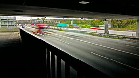 Χρονικό σφάλμα κυκλοφορίας Autobahn/εθνικών οδών απόθεμα βίντεο