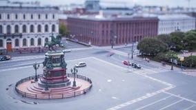 Χρονικό σφάλμα κλίση-μετατόπισης βραδιού Squaret Άγιος Πετρούπολη Αγίου Isaac φιλμ μικρού μήκους