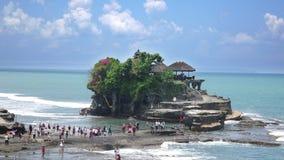 Χρονικό σφάλμα, ναός μερών Tanah, ο σημαντικότερος ινδός ναός του Μπαλί, Ινδονησία απόθεμα βίντεο