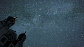 Χρονικό σφάλμα νυχτερινού ουρανού απόθεμα βίντεο