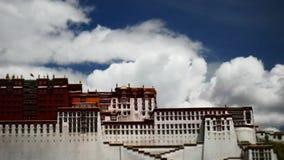 Χρονικό σφάλμα παλατιών Potala Θέση λάμα Dalai Lhasa, Θιβέτ απόθεμα βίντεο