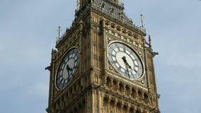 Χρονικό σφάλμα προσώπου ρολογιών Big Ben απόθεμα βίντεο