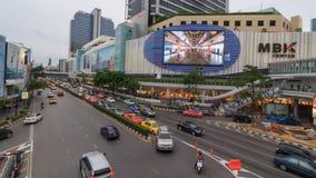 Χρονικό σφάλμα της κυκλοφορίας στη λεωφόρο αγορών MBK απόθεμα βίντεο