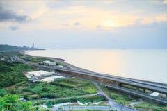 Χρονικό σφάλμα της παράκτιας εθνικής οδού στη δυτική Ταϊβάν απόθεμα βίντεο