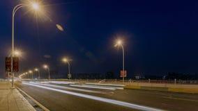Χρονικό σφάλμα της πολυάσχολης κυκλοφορίας σε WUHAN από την ημέρα στη νύχτα απόθεμα βίντεο