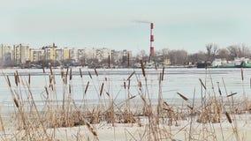 Χρονικό σφάλμα της ροής πάγου στον ποταμό απόθεμα βίντεο