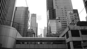 Χρονικό σφάλμα του τραμ μέσω των οδών απόθεμα βίντεο