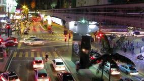 Χρονικό σφάλμα φωτεινών σηματοδοτών πόλεων απόθεμα βίντεο