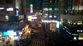 Χρονικό σφάλμα Χονγκ Κονγκ νύχτας απόθεμα βίντεο