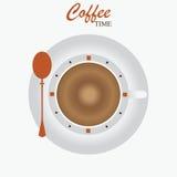 Χρονικό σχέδιο καφέ απεικόνιση αποθεμάτων